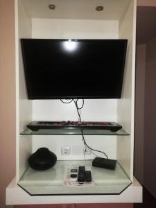 A television and/or entertainment center at Mastic Point Studios