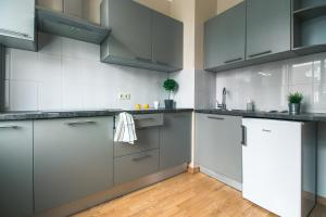A kitchen or kitchenette at Stay next to one of Latvia's oldest cathedrals