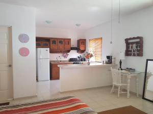 A kitchen or kitchenette at Casa Campestre