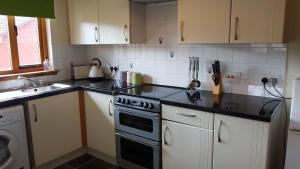 A kitchen or kitchenette at Birch Lodge