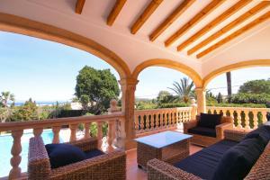 A balcony or terrace at Villa Pinosol