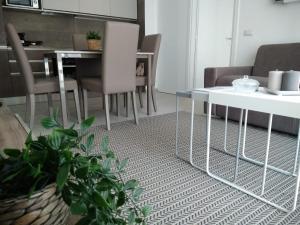 A seating area at 1 Via Santa Croce