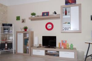 A television and/or entertainment center at La Nicchia