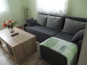 A seating area at Ferienwohnung Seifert