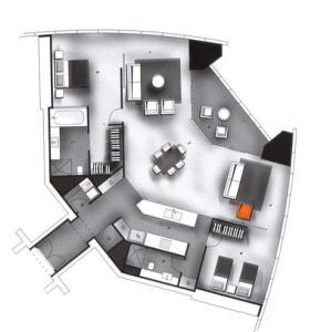 The floor plan of Tallest Tower SkyHomes   9 Hamilton Avenue