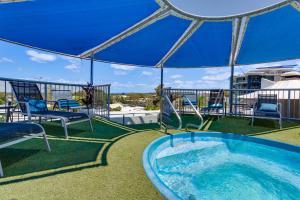 The swimming pool at or near Beach Club Resort Mooloolaba