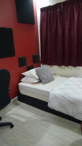 Katil atau katil-katil dalam bilik di Daddy Dayyan Muslim Homestay