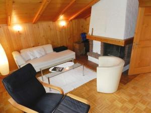 Ein Sitzbereich in der Unterkunft Apartment Abendrot