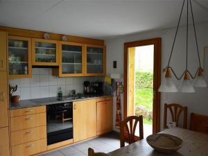 Küche/Küchenzeile in der Unterkunft Apartment Spillgerten-Blick