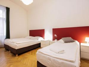 Tempat tidur dalam kamar di Apartment St. Giles.2