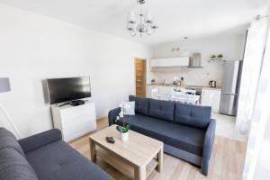A seating area at Apartament 3d Szczecin