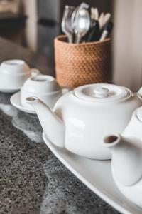 Coffee and tea making facilities at Dura Villas Bali