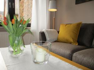 Een zitgedeelte bij Ferienhaus Schwaab-Scherr