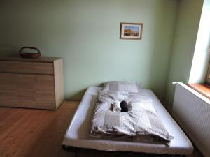 Postel nebo postele na pokoji v ubytování Apartmány Na Lontě