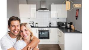 A cozinha ou kitchenette de Dream Apartments Belfast