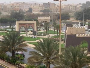 A bird's-eye view of Aknan Al Wed Furnished Units