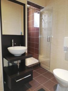 Salle de bains dans l'établissement La pause étoilée