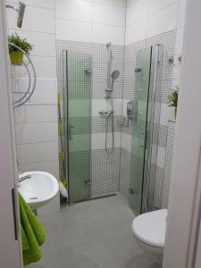 Łazienka w obiekcie Kawalerka w kamienicy na Starówce