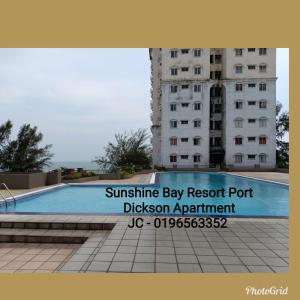 Hồ bơi trong/gần JC Apartment Sunshine Bay Resort Port Dickson