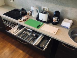 Köök või kööginurk majutusasutuses Sunny Apartment