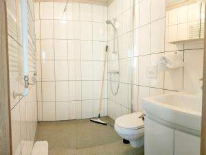A bathroom at Studio GuestHouse Seyðisfirði
