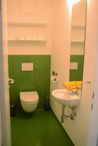 A bathroom at Seeappartement Marina