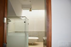 A bathroom at The Whitefield Inn