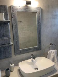 A bathroom at Galini Apartments