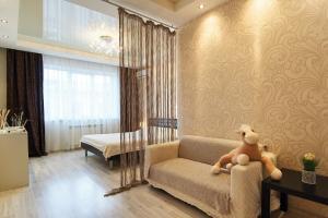 A seating area at Apartments SibKvart at Krylova. Centre