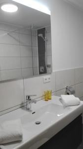 A bathroom at Gästehaus Hosp