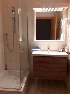 A bathroom at Haus Gebhard