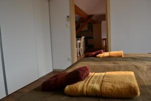 Postel nebo postele na pokoji v ubytování Apartmán Na bidýlku