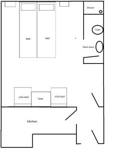 The floor plan of Apartment Kristina Dujmovic
