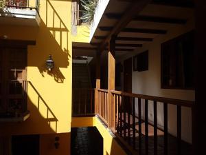 A balcony or terrace at Apartaestudios La Candelaria
