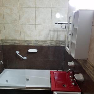 A bathroom at Complejo Los Cipreses