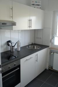 A kitchen or kitchenette at Niederwerth bei Koblenz