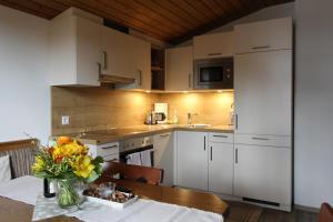 A kitchen or kitchenette at Pittlanderhof