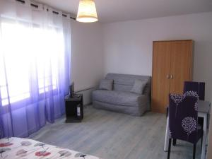 A seating area at 1 Room Apartment Toulouse Blagnac
