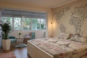 A bed or beds in a room at Casa Abi