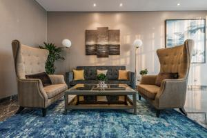 A seating area at D1Mension Residences