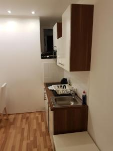 A kitchen or kitchenette at Grand Central Station Apartments