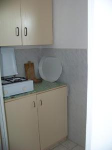 A kitchen or kitchenette at Nefelejcs Apartmanok