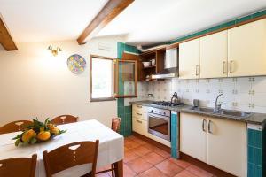 A kitchen or kitchenette at Villa Limoneto C