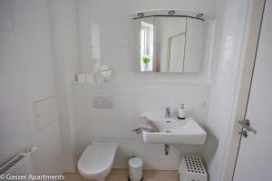 A bathroom at Gasser Apartments - Apartments Karlskirche