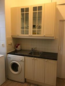 A cozinha ou cozinha compacta de Blahnikova Aparthotel