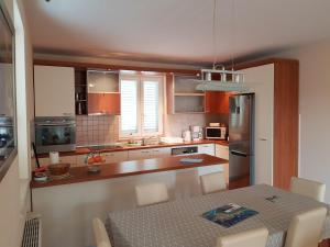 A kitchen or kitchenette at Apartments Laus