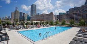 The swimming pool at or near Corporate Suites Network - River North Luxury 2 Bedroom