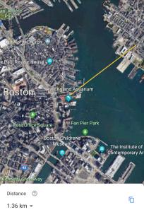 A bird's-eye view of 2 BR by Boston Harbor & Airport