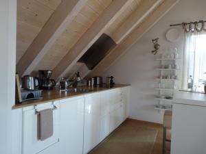 Küche/Küchenzeile in der Unterkunft See - Apartment