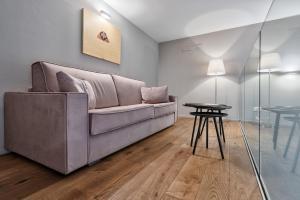 Area soggiorno di Palazzo Del Carretto-Art Apartments